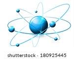 molecule abstract illustration  ...   Shutterstock . vector #180925445