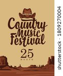 a country music festival poster ... | Shutterstock .eps vector #1809270004