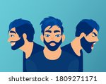 vector of a young man with mood ... | Shutterstock .eps vector #1809271171