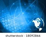 america map technology style... | Shutterstock . vector #18092866