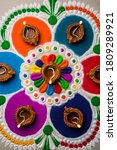 rangoli design is an art form... | Shutterstock . vector #1809289921