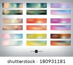 vector collection of blurred... | Shutterstock .eps vector #180931181