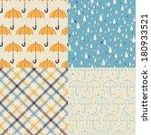 vector set of four seamless... | Shutterstock .eps vector #180933521