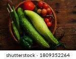 Homegrown Vegetables Cucumber...