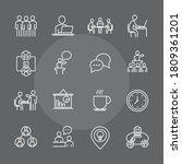 coworking office business...   Shutterstock .eps vector #1809361201