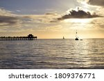 Naples Pier At Sunset On A...