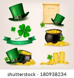 set of st. patrick's day... | Shutterstock .eps vector #180938234