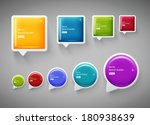 vector collection of square and ... | Shutterstock .eps vector #180938639