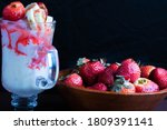 Ice Cream Cup With Strawberry...