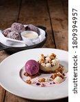 Gourmet Desserts On Rustic...