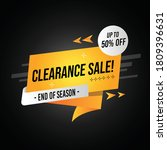 clearance sale banner vector...   Shutterstock .eps vector #1809396631