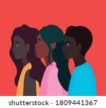 diversity skins of black women... | Shutterstock .eps vector #1809441367