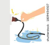 don t touch electric wire when...   Shutterstock .eps vector #1809454507