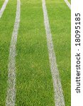 markers on soccer field. | Shutterstock . vector #18095185