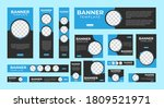 set of corporate web banners of ...   Shutterstock .eps vector #1809521971