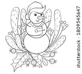 adult coloring book page a new... | Shutterstock .eps vector #1809545647