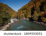 Mountain Stony River On The...