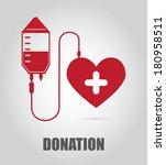 donate blood  design over gray... | Shutterstock .eps vector #180958511