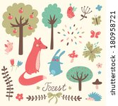 Cute Forest Vector Set....