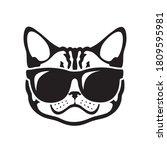 american shorthair cat wearing... | Shutterstock .eps vector #1809595981
