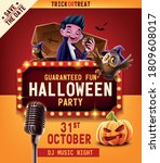 halloween party invitation with ... | Shutterstock .eps vector #1809608017