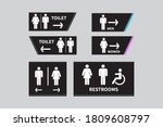 Set Toilet Signs. Men And Women ...