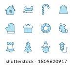 christmas linear vector icons...
