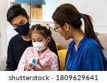 asian female doctor show... | Shutterstock . vector #1809629641