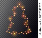 bright golden and orange... | Shutterstock .eps vector #1809631957