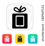 gift tablet pc icon. vector...