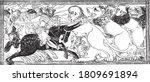 alexander the great fight... | Shutterstock .eps vector #1809691894
