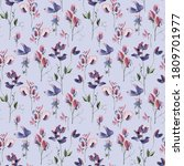 pea flowers seamless pattern on ... | Shutterstock . vector #1809701977