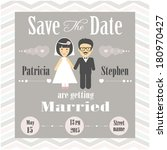 wedding invitation | Shutterstock .eps vector #180970427