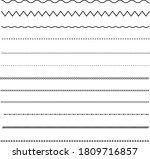 set of line on white background.... | Shutterstock .eps vector #1809716857