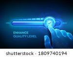 increasing quality level.... | Shutterstock .eps vector #1809740194