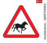 Wild Horses Traffic Sign....