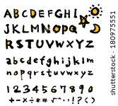 alphabet   Shutterstock .eps vector #180975551