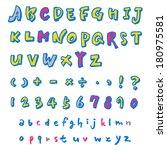 alphabet | Shutterstock .eps vector #180975581