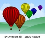 rainbow colored hot air... | Shutterstock .eps vector #180978005