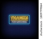 thanks for watching neon signs... | Shutterstock .eps vector #1809799864