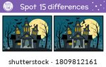 halloween find differences game ... | Shutterstock .eps vector #1809812161