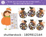 halloween matching game with... | Shutterstock .eps vector #1809812164