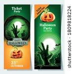 invitation card for halloween... | Shutterstock .eps vector #1809818224