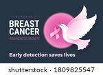 breast cancer awareness october ... | Shutterstock .eps vector #1809825547