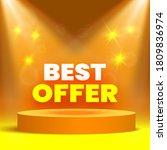 best offer sale banner on stage ... | Shutterstock .eps vector #1809836974