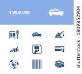transportation icon set and suv ...
