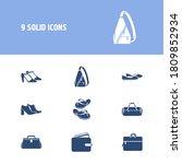 fashion icon set and computer...