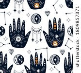 seamless pattern with mystical...   Shutterstock .eps vector #1809857371