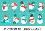Snowman. Cheerful Christmas...