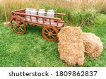 Wooden Cart In Vintage Style ...